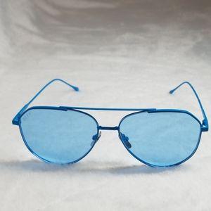 COPY - DIFF neon blue aviator sunglasses no case